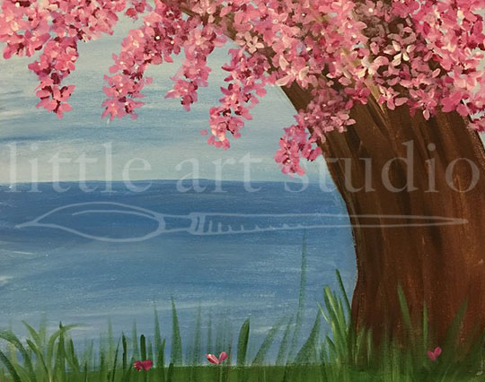 Cherry Blossom Lakeside