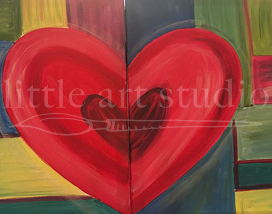 Couples Heart Painting