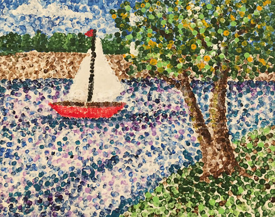Dotted Sailboat