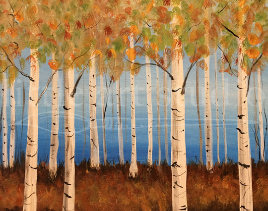 Fall Birch Forest
