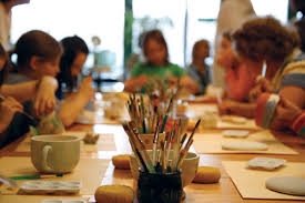 We offer a wide variety of art classes in studio and offsite.  Learn more