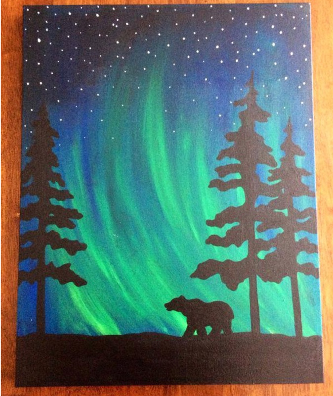 Northern Lights Polar Bear