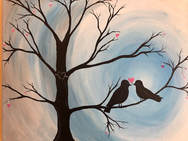 Love Birds- Blue
