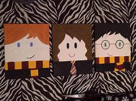 Canvas Ron, Hermione & Harry